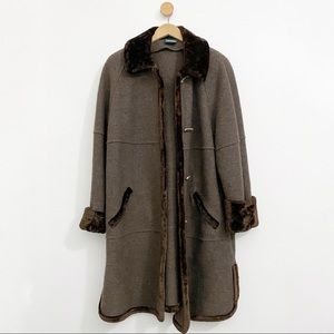 Geiger Brown Wool Long Coat